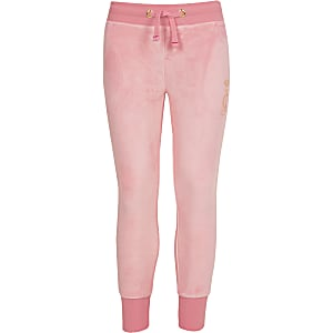 64ff0df80 Girls Juicy Couture pink velour joggers