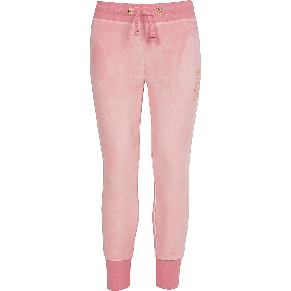 Girls Juicy Couture pink velour joggers