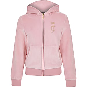 Juicy Couture – Trainingsoberteil in Hellrosa