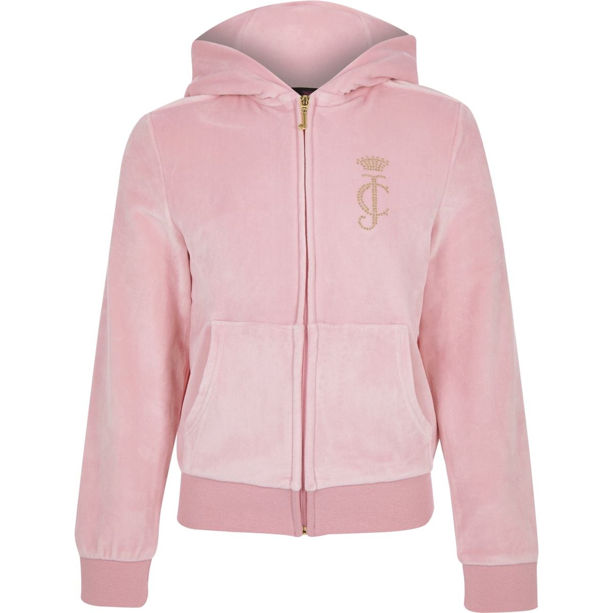 Girls Juicy Couture light pink track top