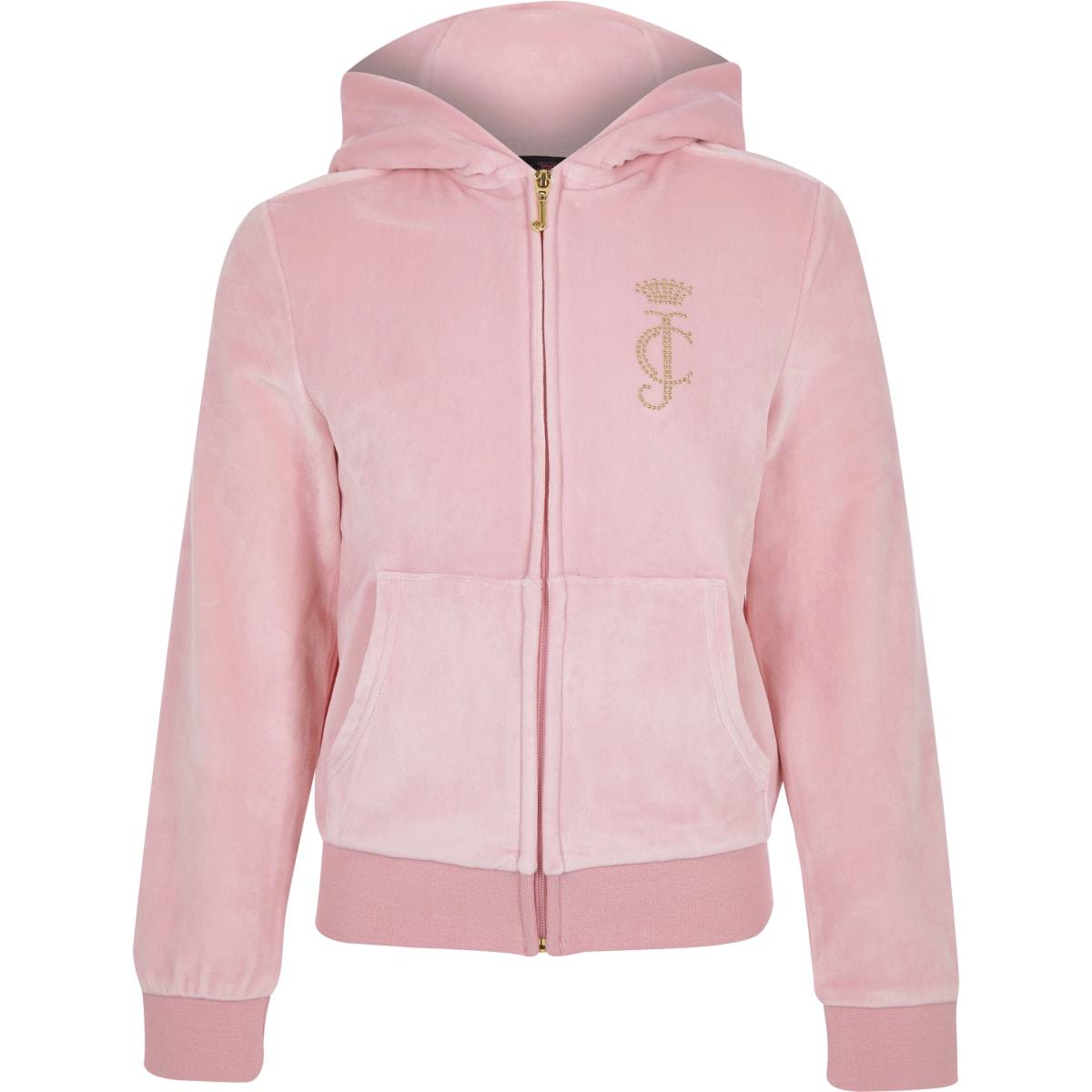 Juicy Couture - Lichtroze trainingstop voor meisjes
