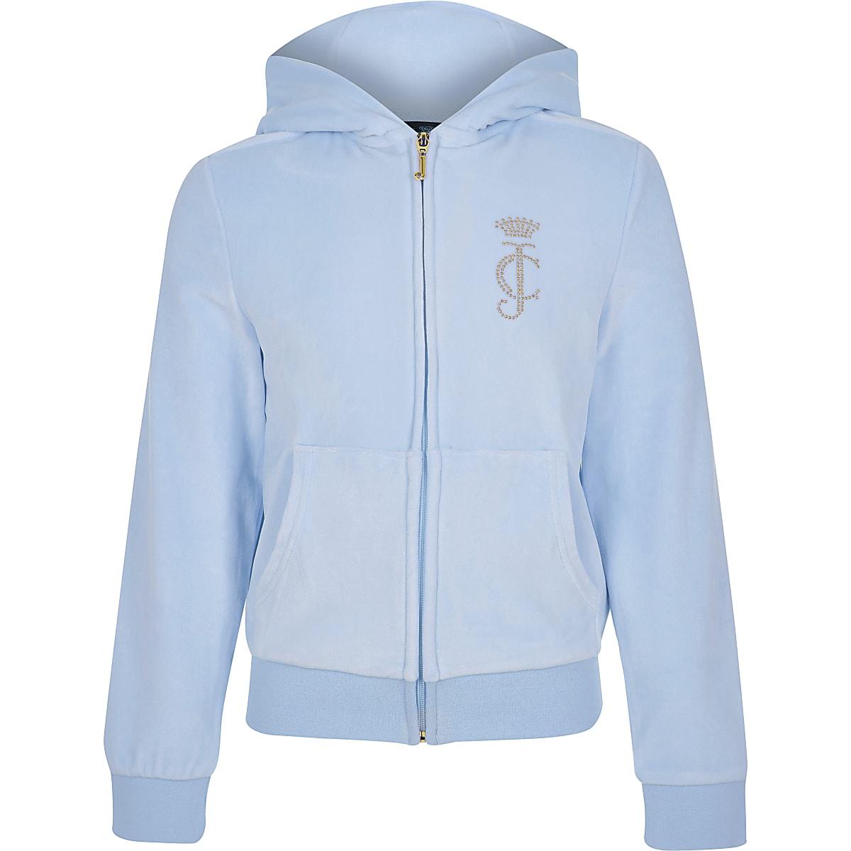 Juicy Couture - Lichtblauwe trainingstop voor meisjes