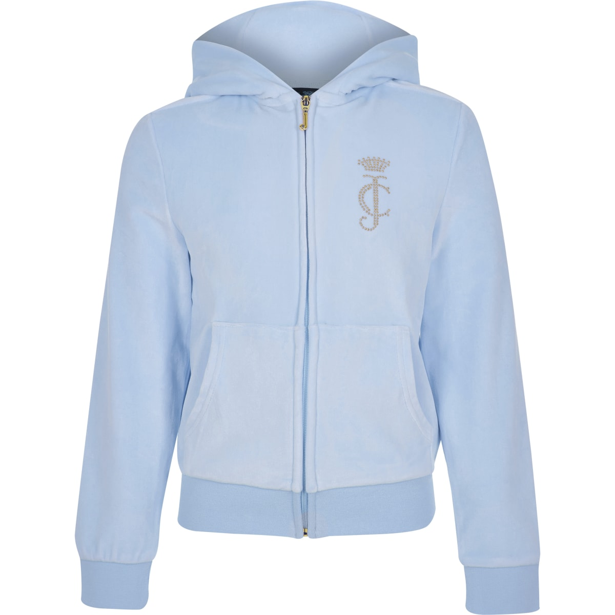 Girls Juicy Couture light blue track top