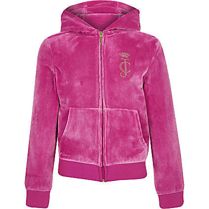 Girls Juicy Couture pink track top