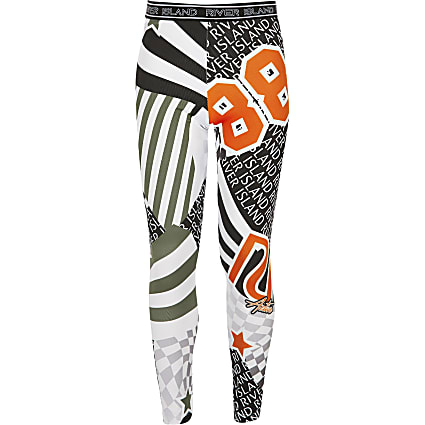 Girls orange print RI active legging