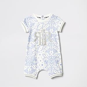 Blauw rompertje met print voor baby's