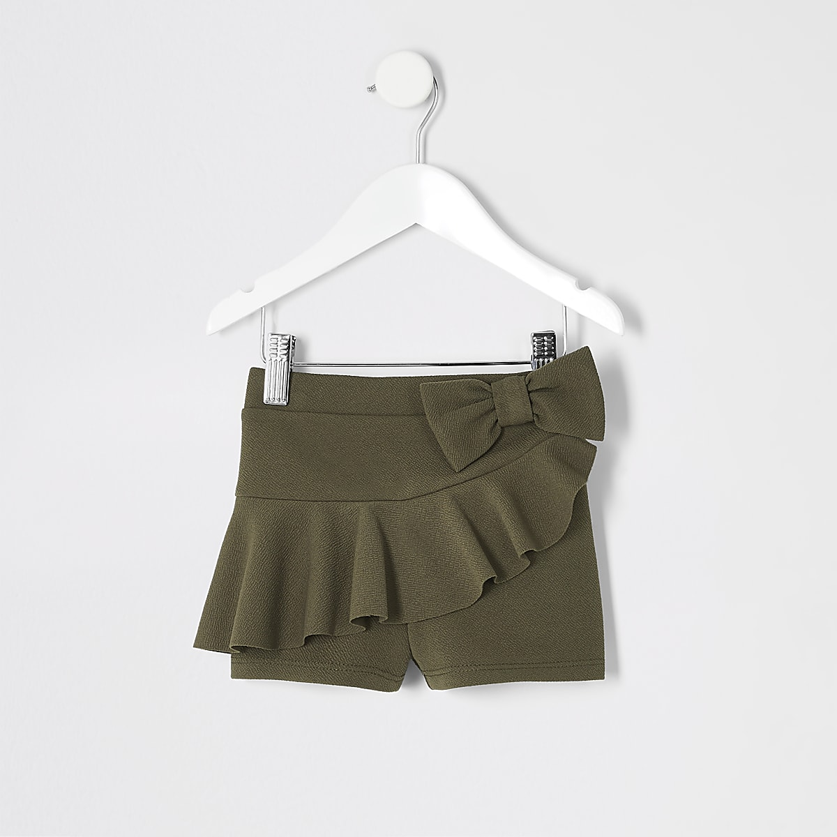 Mini girls khaki frill shorts