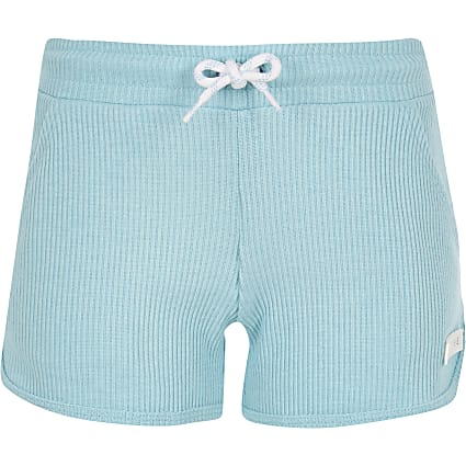 Girls Converse blue ribbed shorts
