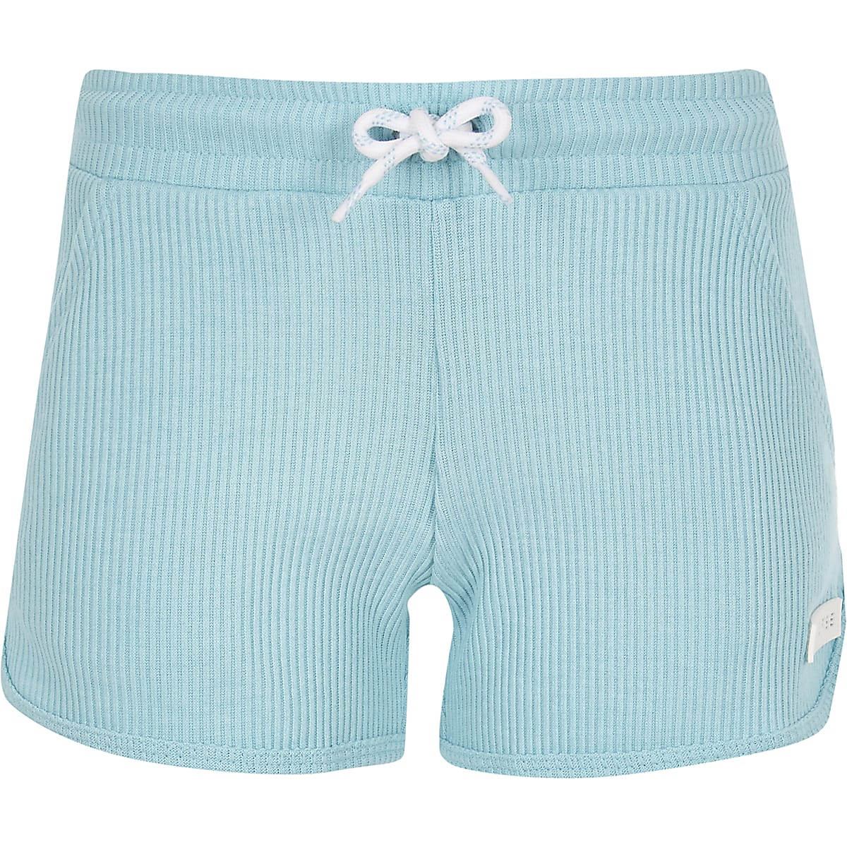 Girls Converse blue ribbed shorts