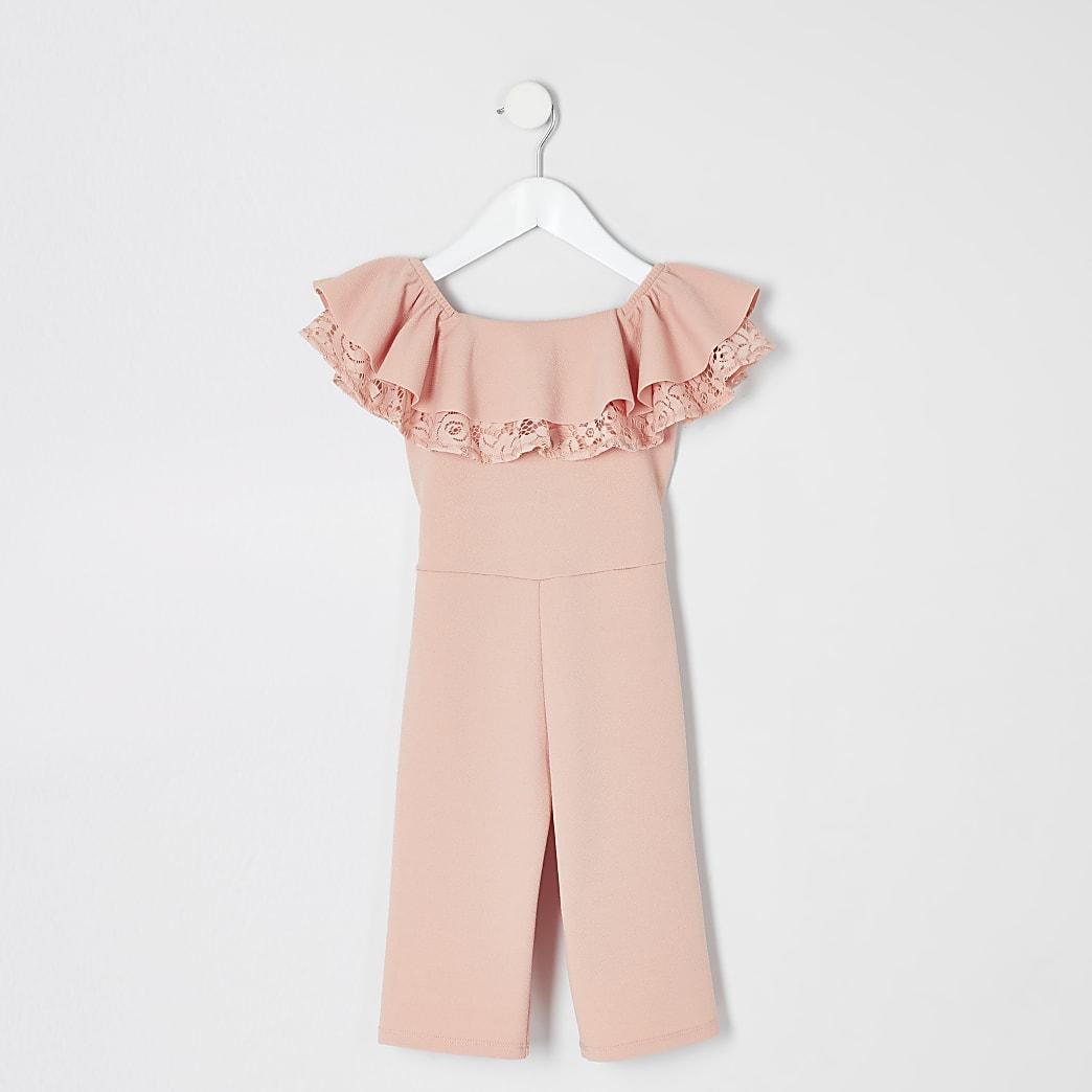 Pinker Bardot-Overall