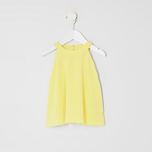 Mini - Gele A-lijntop voor meisjes