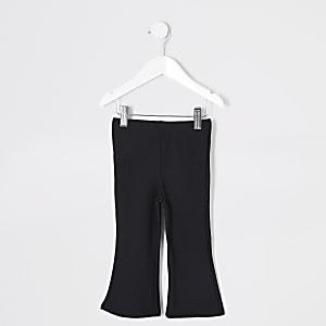 Pantalon évasé noir fuchette pour Mini fille