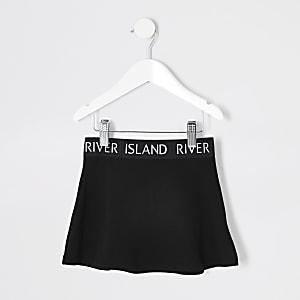 Mini - Zwarte rok met RI-tailleband voor meisjes