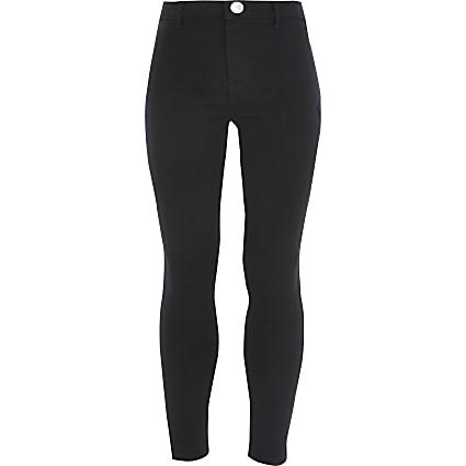 Girls black Kaia high waist disco jeans
