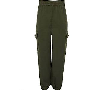 Pantalon de jogging fonctionnel kaki pour fille