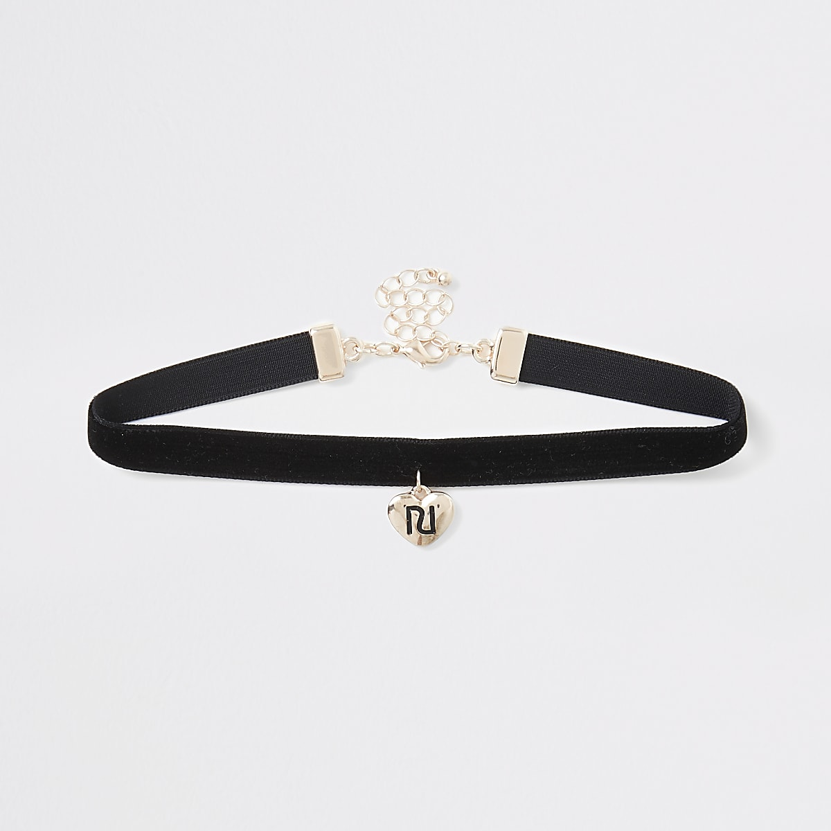 Girls black RI heart choker