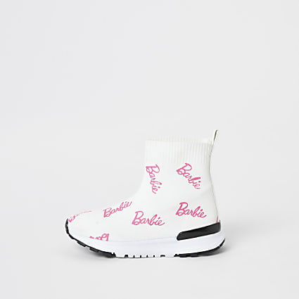 Mini girls Barbie sock trainers