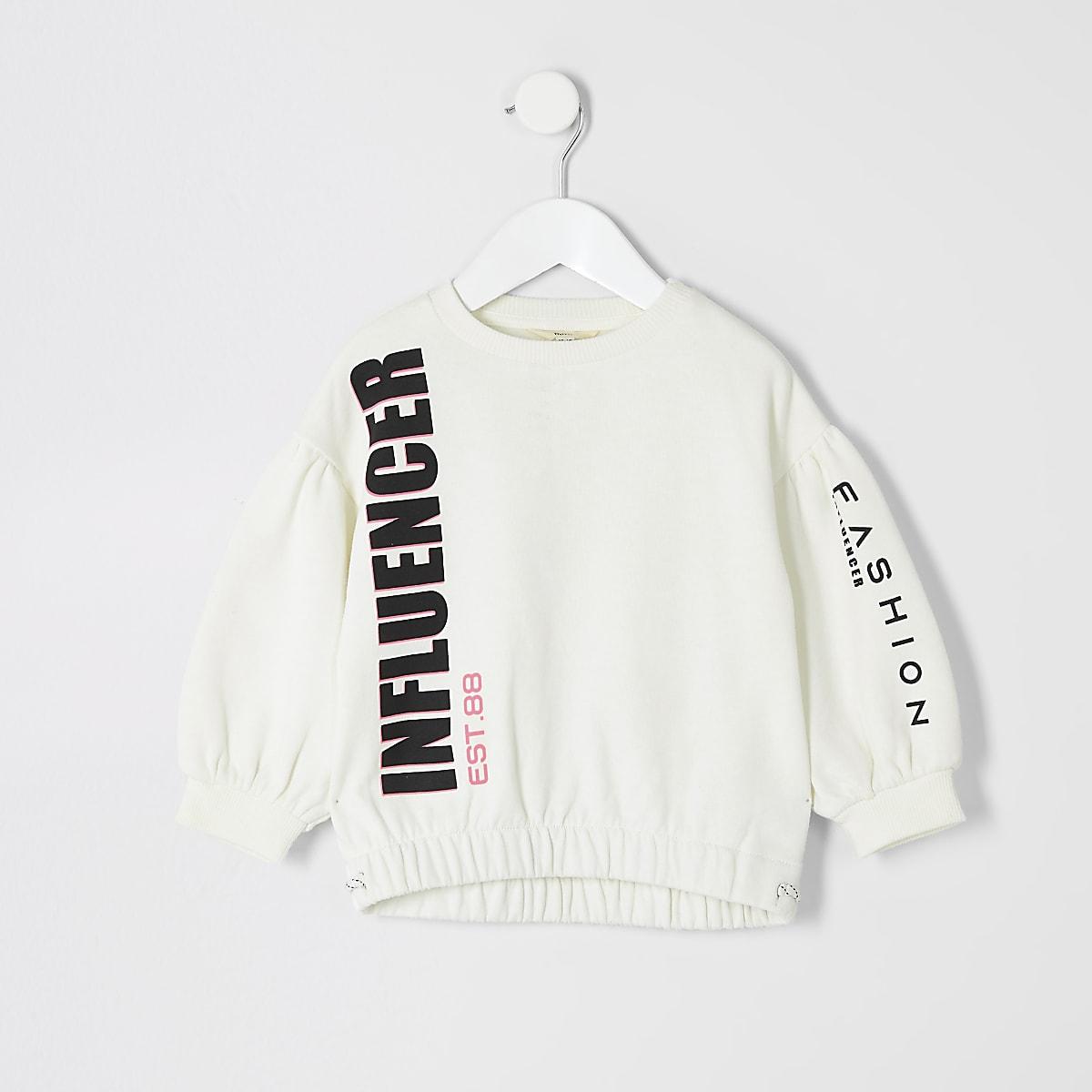 Mini girls cream 'Influencer' sweatshirt