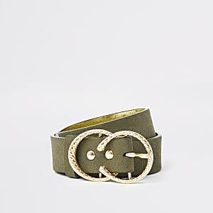 Ceinture kakitexturée à deux anneaux pour fille