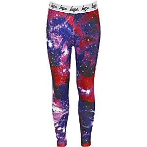 Hype – Pinke, bedruckte Mädchen-Leggings