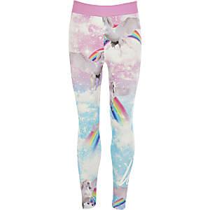 Hype – Pinke Leggings mit Einhorn-Print für Mädchen