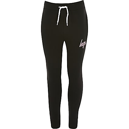 Girls Hype black joggers
