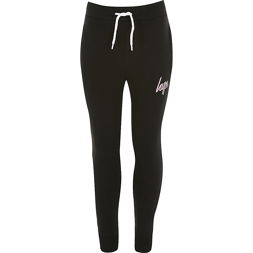 Girls Hype black joggers