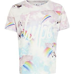 Hype– T-shirt rose imprimé pour fille