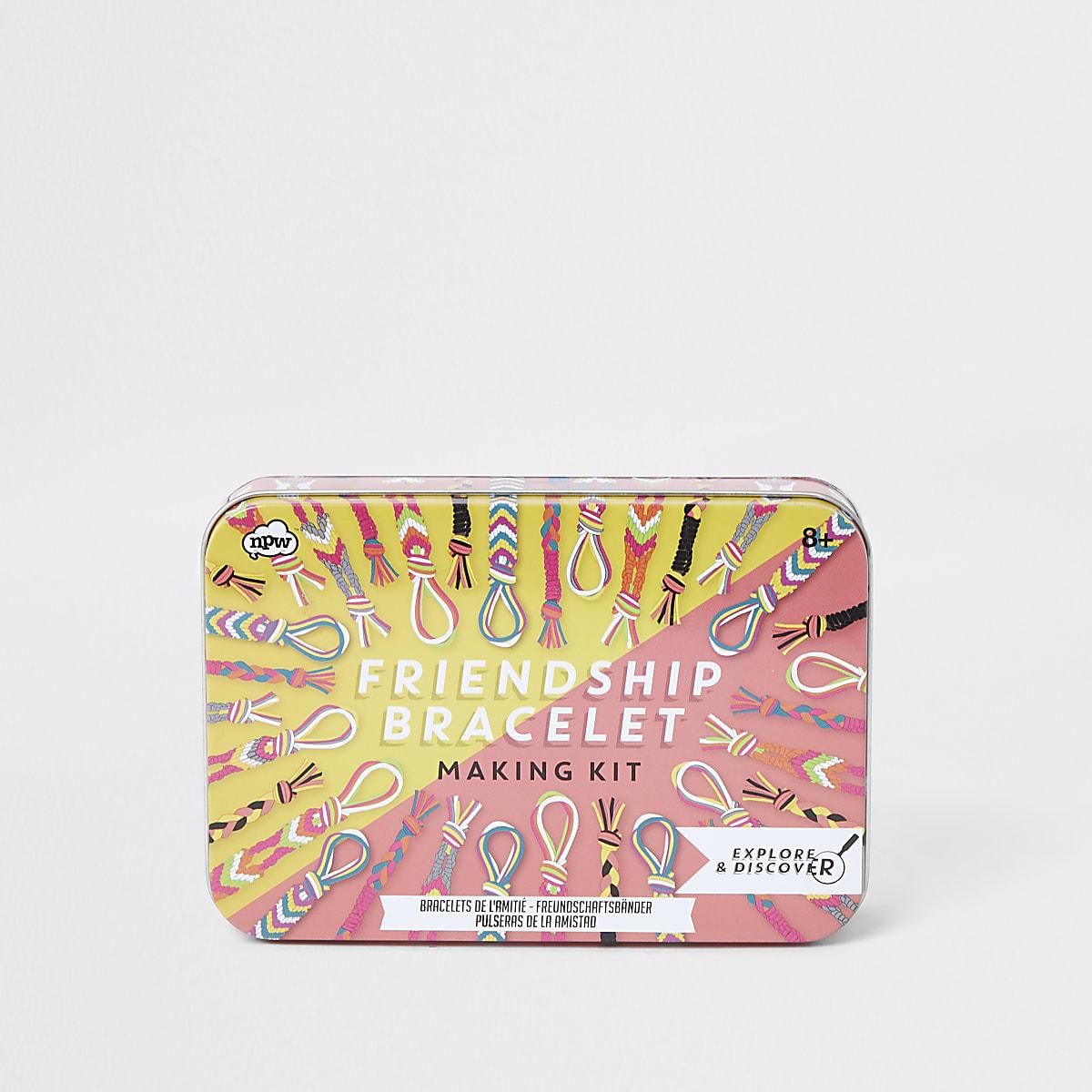 Girls white friendship bracelet making kit