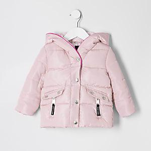Gefütterte Jacke in Pink für kleine Mädchen