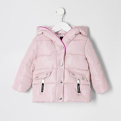 Mini girls pink padded jacket
