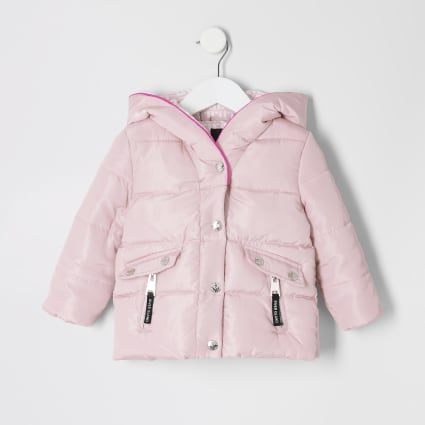 Mini girls pink padded jacket