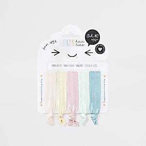 Lot de rubans pour les cheveux multicolores pour fille