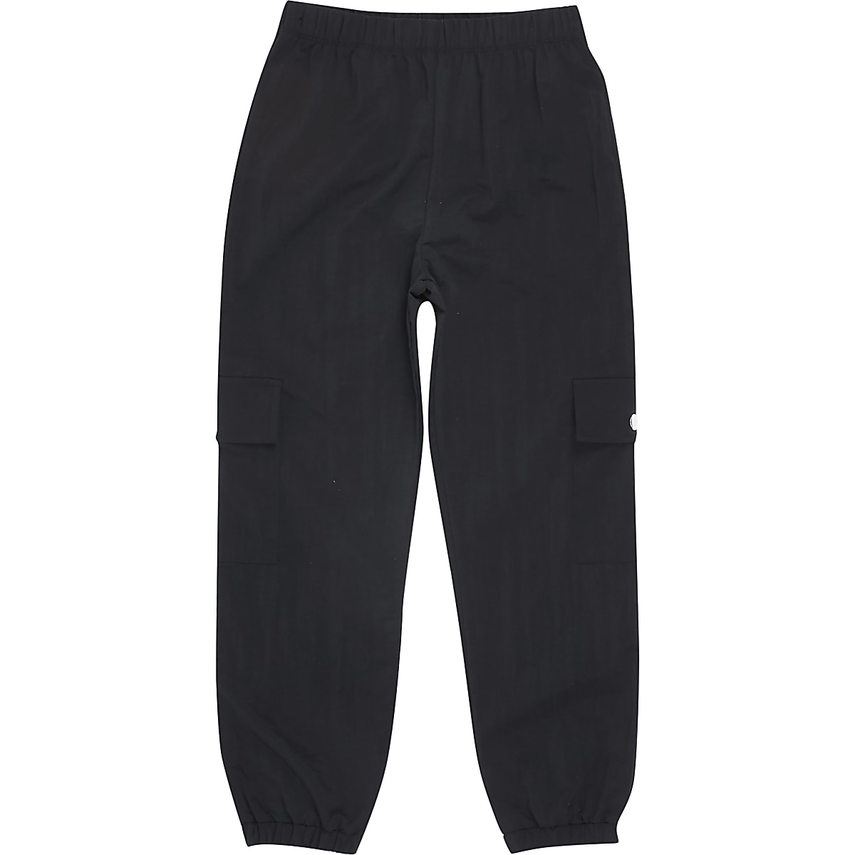 Girls black utility jogger