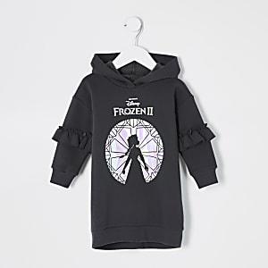 Robe pull noire Frozen2 Minifille