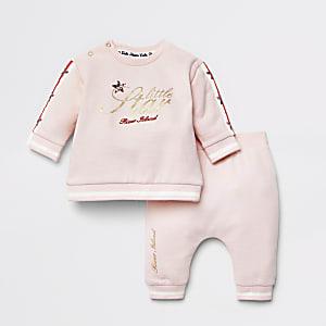 """Pinkes Outfit mit Sweatshirt """"Little Star"""" für Babys"""