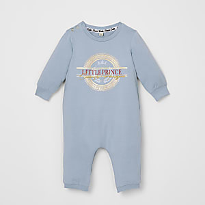 Baby blue 'Little Prince' romper