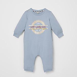 Blauwe babygrow met 'Little Prince'-tekst voor baby's