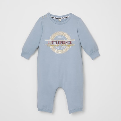 Baby blue 'Little Prince' baby grow