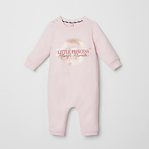 Baby pink 'Little princess' romper