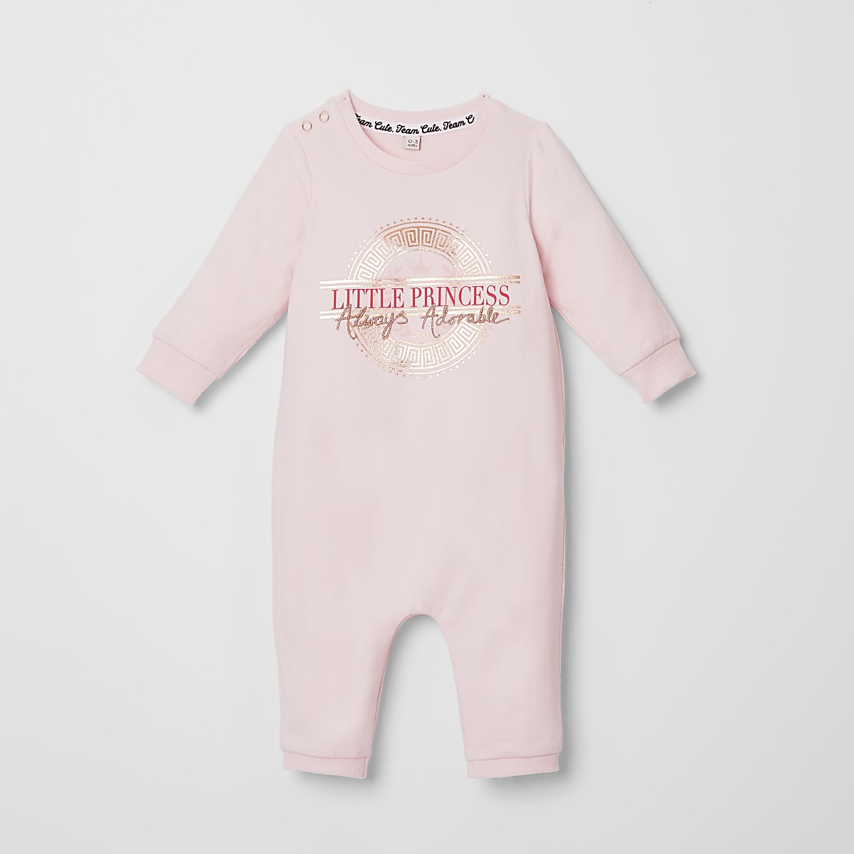Baby pink 'Little princess' baby grow
