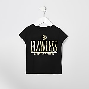 Mini girls 'flawless' mirror foil T-shirt