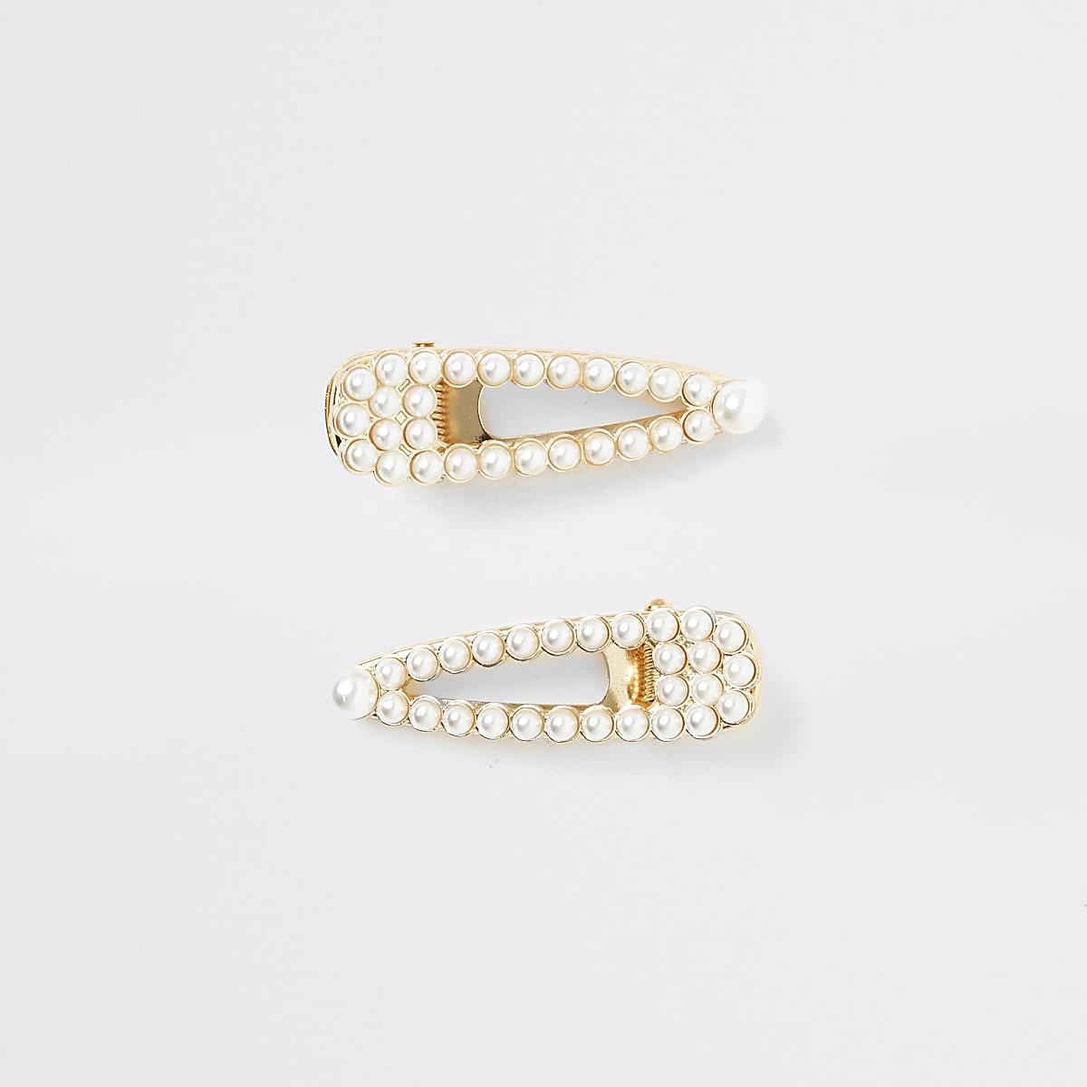 Speldjes met witte parels voor meisjes