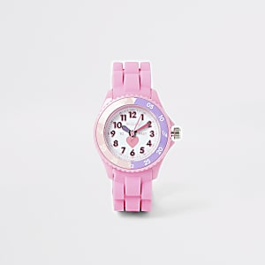 Mini girls Tikkers pink time teacher watch