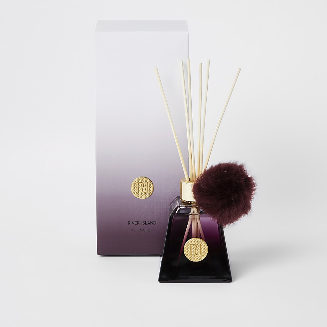 Plum & ginger scented purple ombre diffuser