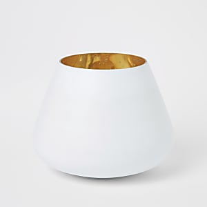 Medium white matte mercury votive