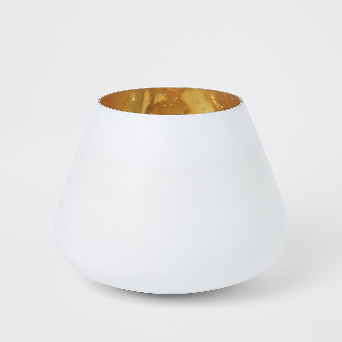 Medium white matte mercury votive