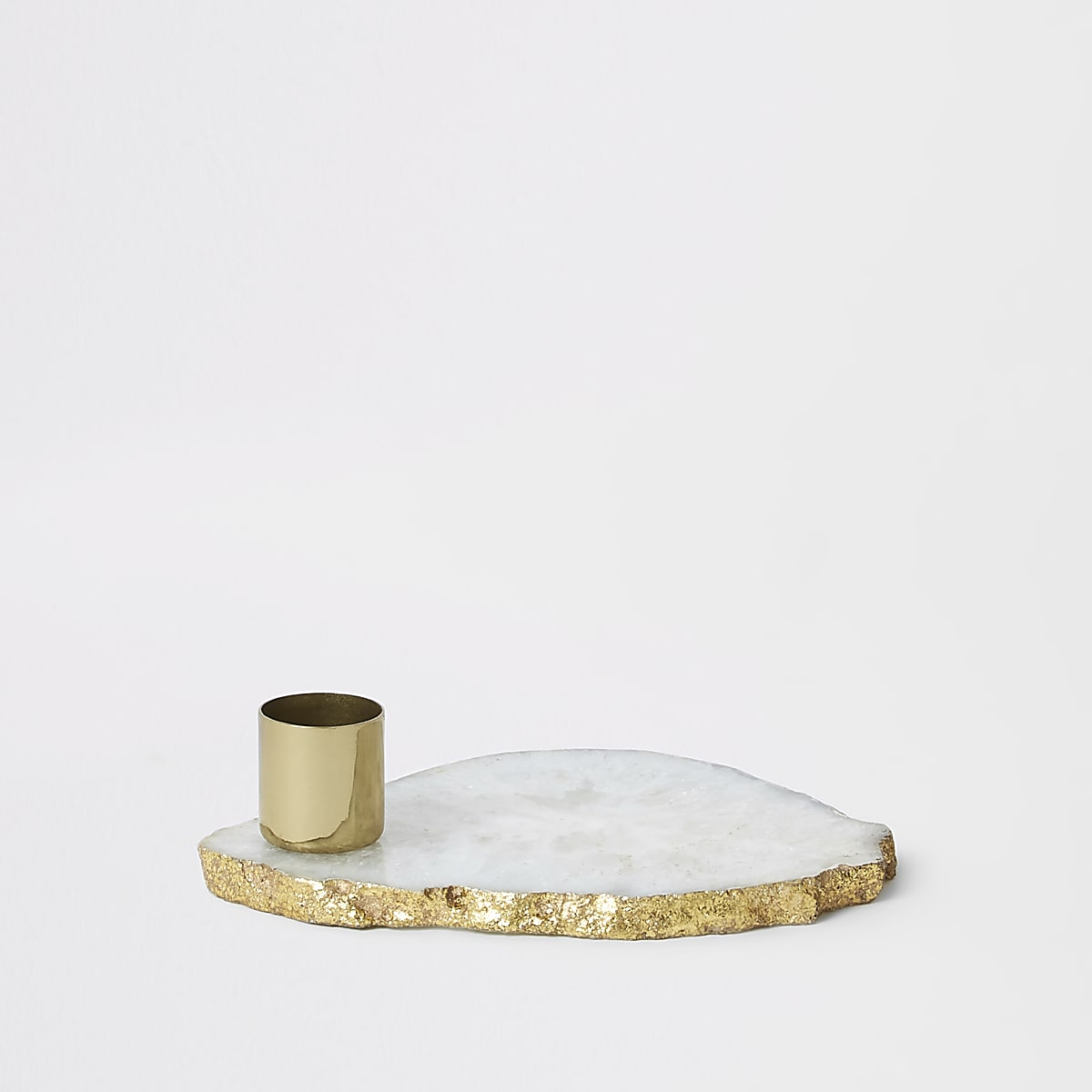 Ivory agate candle holder