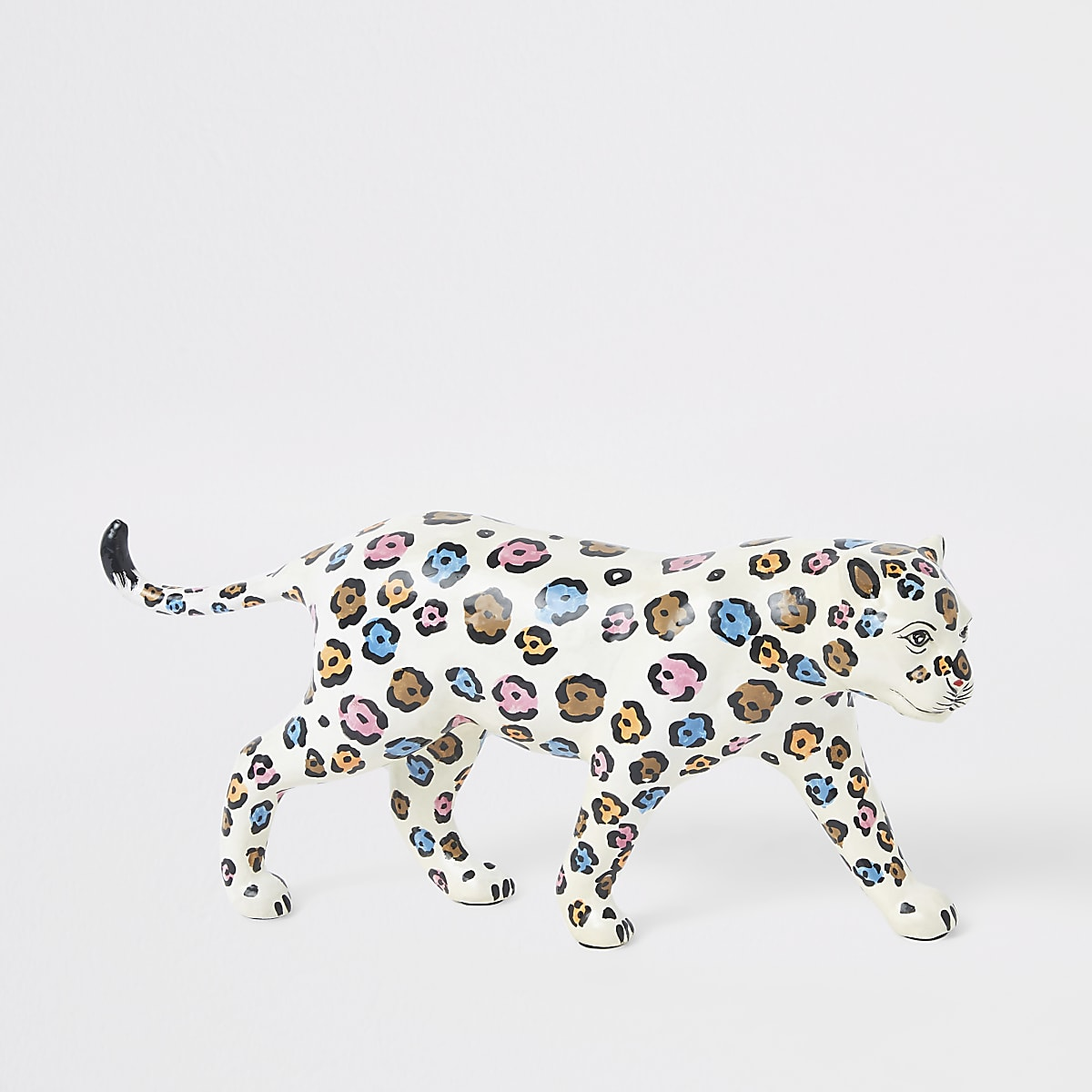 Ornement léopard blanc