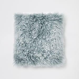 Blue tipped Mongolian cushion